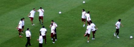 Portugal warming up at the 2006 World Cup in Germany