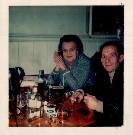 Bailey's grandparents having a drink in around 1980.