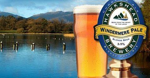 Windermere Pale Ale pint and pumpclip.