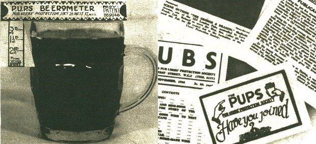 Pub User's Preservation Society memorabilia.