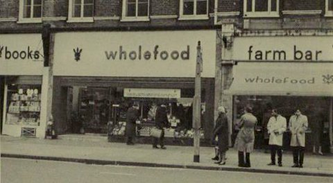 Wholefood store scanned from a 1970s cookery book.
