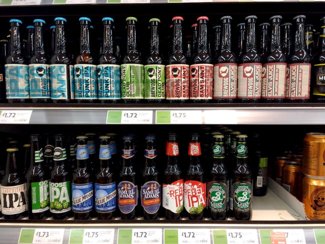 BrewDog Beers on a shelf.