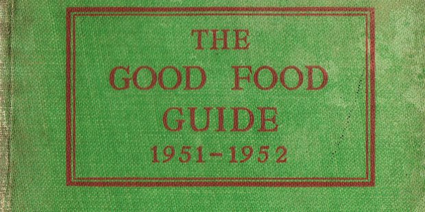 Detail of book cover: The Good Food Guide 1951-1952.