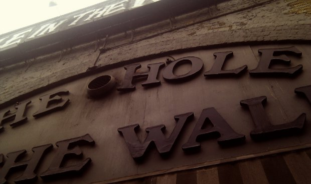 Pub: the Hole in the Wall, Waterloo, London.