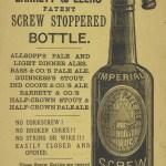 Advertisement for Barrett & Elers beer bottles, 1882.