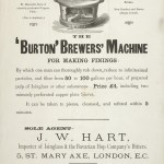Advertisement for a machine for grinding finings, 1884.