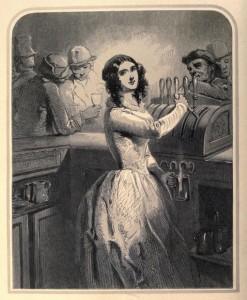 The Barmaid by Paul Gavarni, 1849.