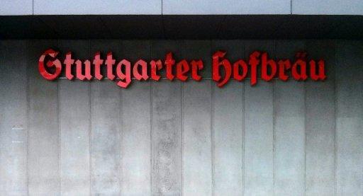 Sign advertising Stuttgarter Hofbrau.