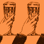 Vintage beer glass illustration.