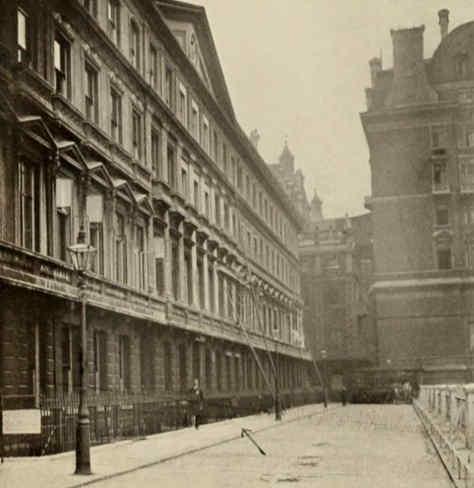 Adelphi Terrace off the Strand, 1906.