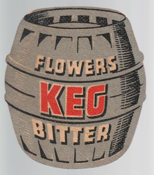 1956 Flower's Keg beermat.