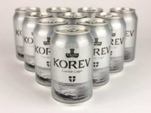 St Austell Korev in cans.