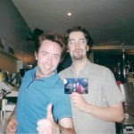 Christian Townsley (left) and John Gyngell, founders of North Bar, c.1997. (SOURCE: North Bar.)