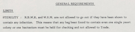 Note on sterility from Watney's QC manual, 1966.