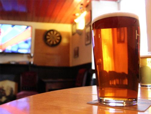 A pint of Cornish Best at the Star Inn.