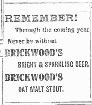 Brickwoods advertisement, 1912.