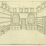 Perspective view of the bar room of an inn in the 'Old English' style.