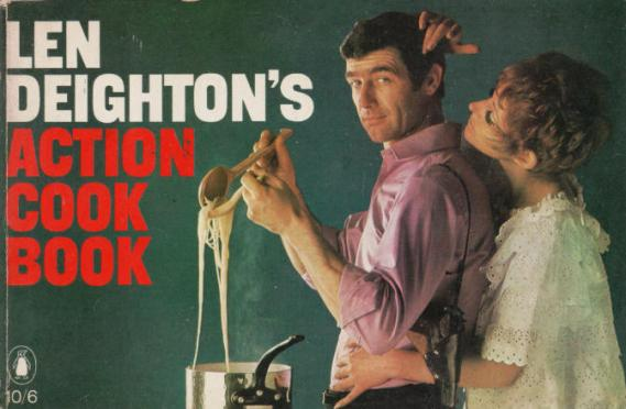 PENGUN PAPERBACK COVER: Len Deighton's Action Cook Book, 1967 edition.