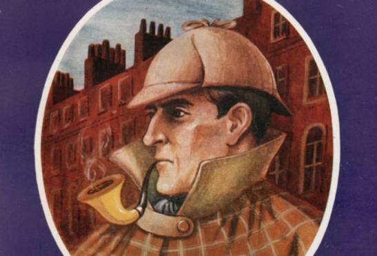 Detail from the cover of 'The Sherlock Holmes: a catalogue of the collection', Whitbread.