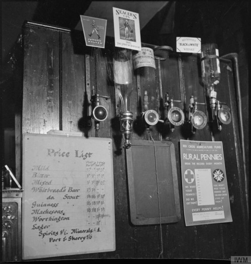 Optics and a piece of paper with beer prices.