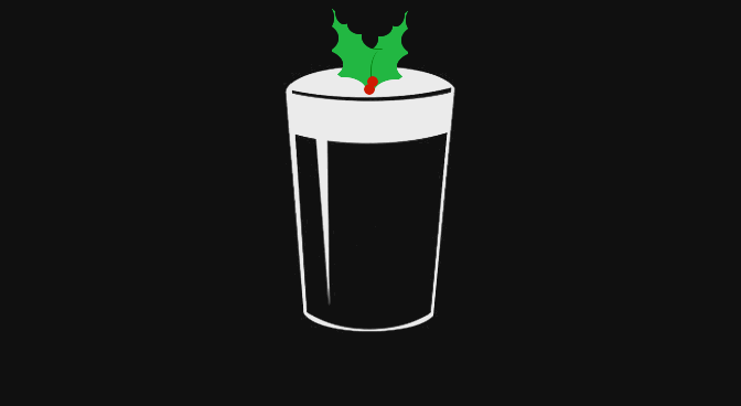 Illustration: Stout with Christmas holly.