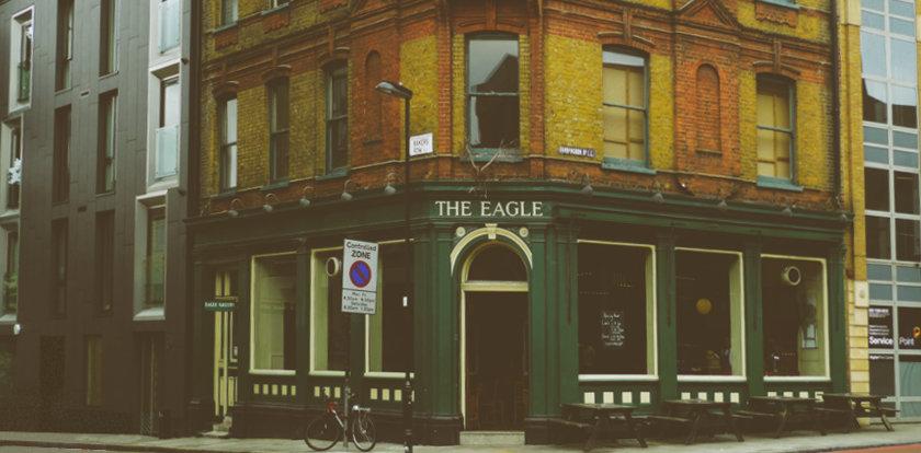 The Eagle pub.