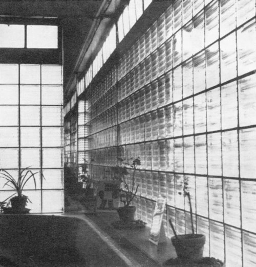 Glass panels.