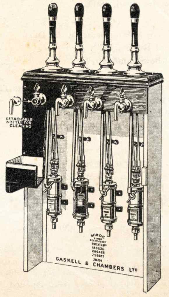 Gaskell and Chambers beer engine.