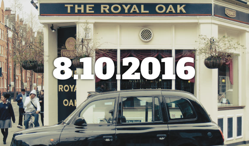 The Royal Oak, Westminster, London, c.2008, with date overlaid.
