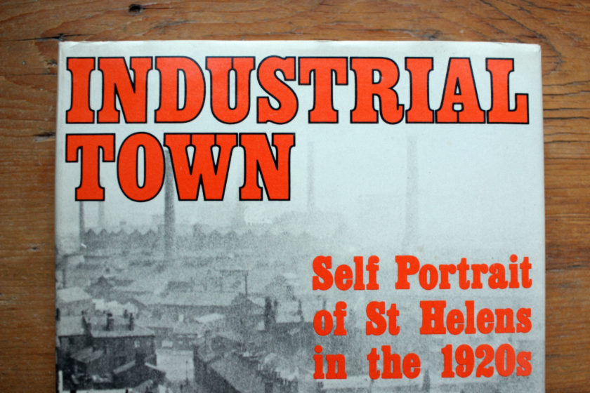 """Detail from the cover of """"Industrial Town""""."""