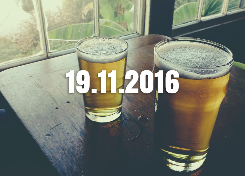 Pictures of two beers overlaid with beer.