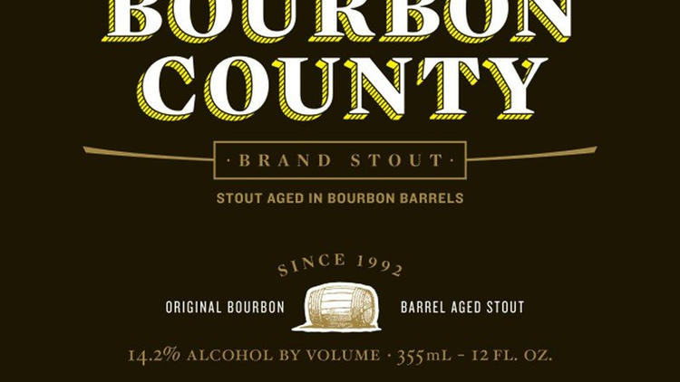 Detail from Bourbon County label.