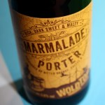 Marmalade Porter bottle -- orange label against blue background.