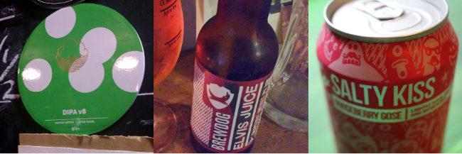 Samples of craft beer branding.