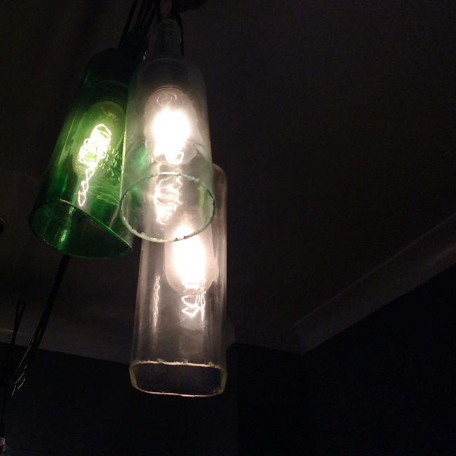Edison bulbs.