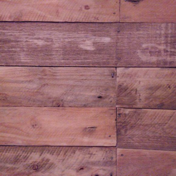 Pallet wood seating.