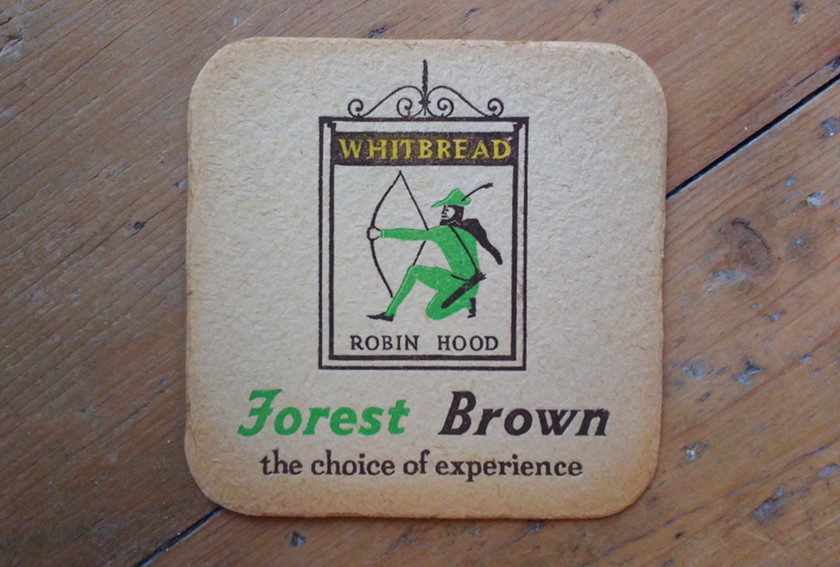 Forest Brown beer mat c.1960.