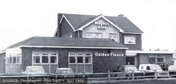 Exterior of the Golden Fleece pub, Doncaster, c.1968.
