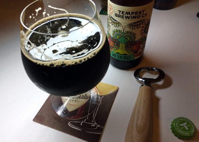 Tempest Mexicake in the glass.