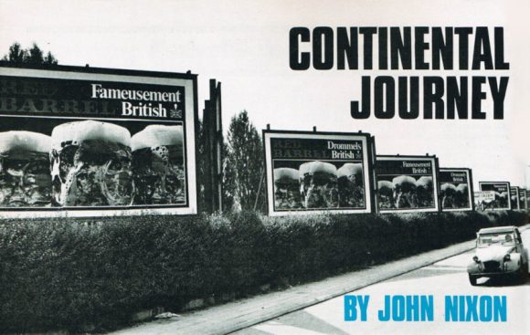 Article header from a vintage magazine: 'Continental Journey by John Nixon'