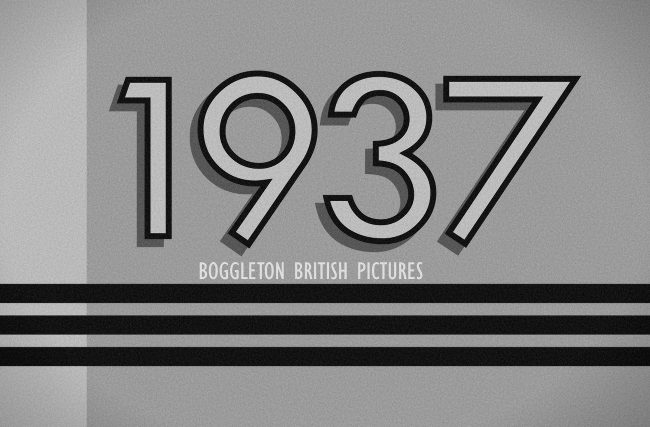 1937 header graphic, black-and-white film title card style.