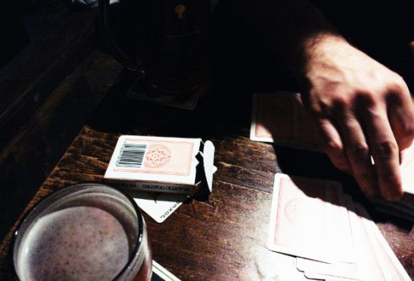 Cards in the pub.