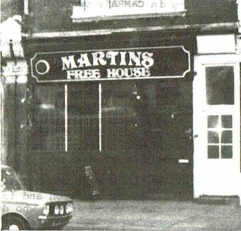 Martin's Free House, North London.