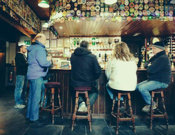 A group at the bar.