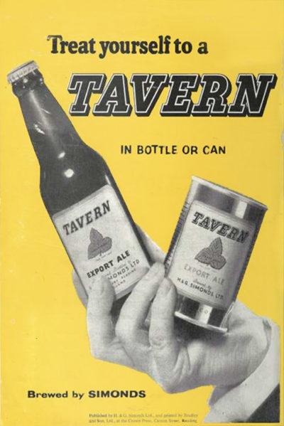 Tavern advertisement, 1957.