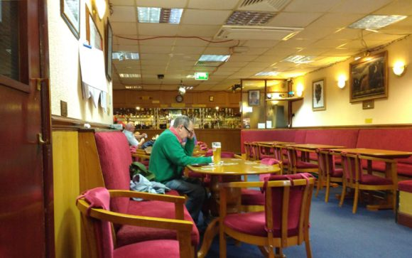 Interior of the Buffs club, Penzance.