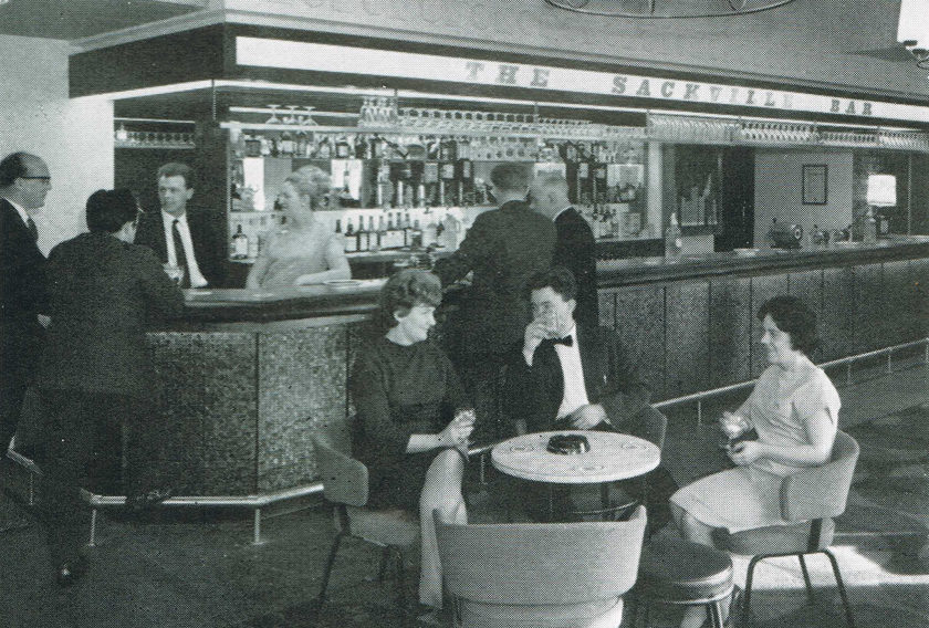 The Sackville Bar at the Thompson Arms, Manchester, in 1966.