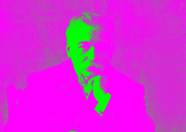 Auguste Escoffier in pop art colours.