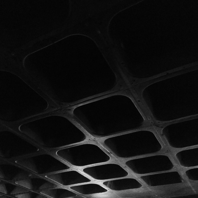 The bare ceiling of the Elephant & Castle pub.