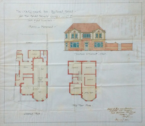 A plan of the Shakespeare, Redland.